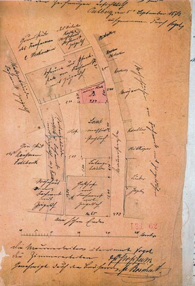 Aus der Bauakte: Hoffmann´s Hotel 1873