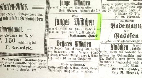 Prignitzer Nachrichten, 9. Mai 1916