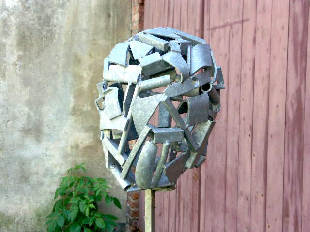 """Kopf"", Skulptur von Jost Löber"